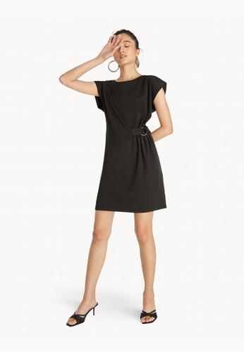 Pomelo black Mini Side Ring Buckle Dress - Black F9BC7AA5CE8170GS_1