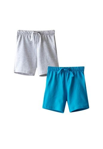 LC Waikiki blue 2-Pack Elastic Waist Shorts FDA96KA411BA66GS_1