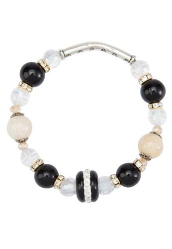 配色閃鑽珠子手鍊, 飾品配件, 飾zalora 包包評價品配件