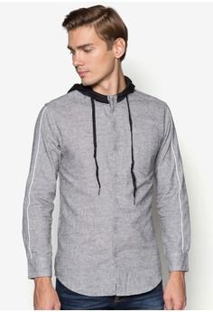 XM-Long Sleeve Piping Hoodie Shirt