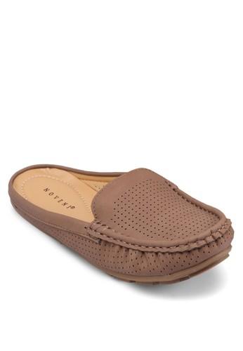 沖孔包頭拖鞋、 女鞋、 船型鞋Noveni沖孔包頭拖鞋最新折價