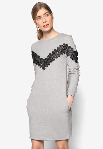 蕾esprit retail絲飾長袖連身裙, 服飾, 服飾