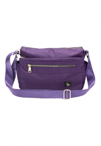 POLOVENZI purple Polovenzi Ladies Sling Bag Crossbodybag B436FAC7DF171BGS_1