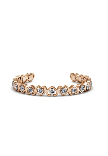 Her Jewellery gold Swarovski® Crystals - Simply Love Bangle (Rose Gold)(18K Rose Gold Plated) Her Jewellery HE581AC0RAD5MY_1