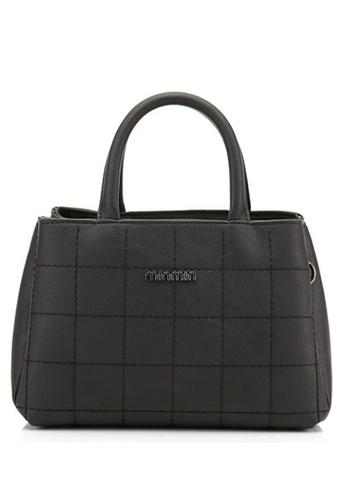 Vince black French Designed Elegant Vegan Leather Tote ( Black ) VI456AC06VFDMY_1