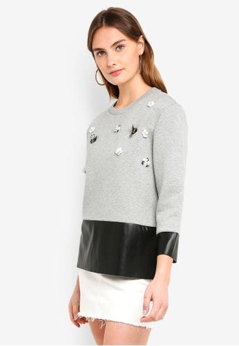 ESPRIT grey Long Sleeve Sweatshirt FDB21AA0D1D27CGS_1