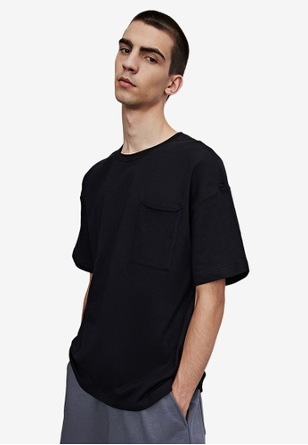 Urban Revivo black Casual T-Shirt EFC63AAF75043CGS_1