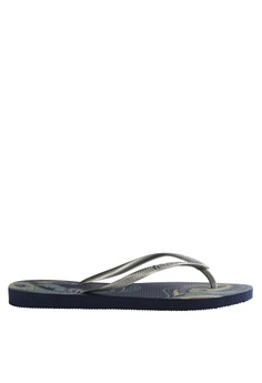 2306bfd31952 Havaianas silver and navy Slim Organic Flip Flops Slippers  AED7FSHA160A5FGS 1