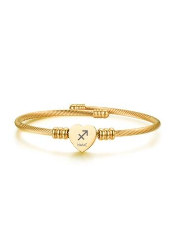 CELOVIS gold CELOVIS - Zodiac Sign Bangle in Gold 42193AC040277BGS_1