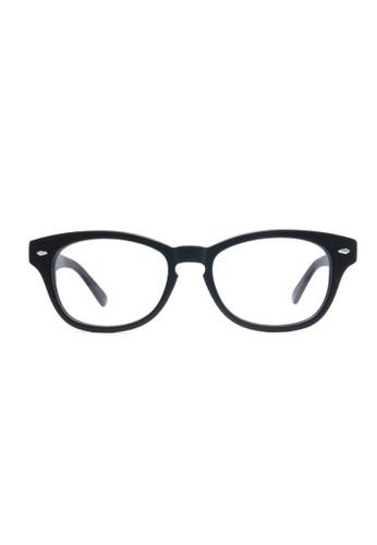 霧面黑色鏡框│復古方esprit分店形│1678-C1P, 飾品配件, 眼鏡