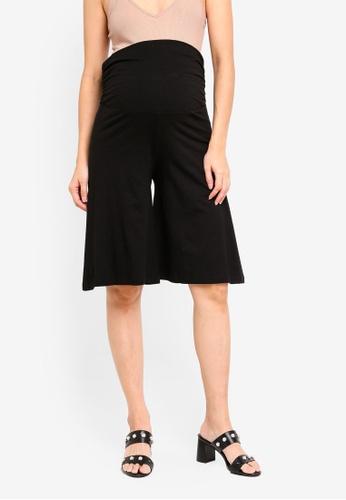 Spring Maternity black Maternity Ginny Capri Shorts 67CE7AAFDBA1BEGS_1