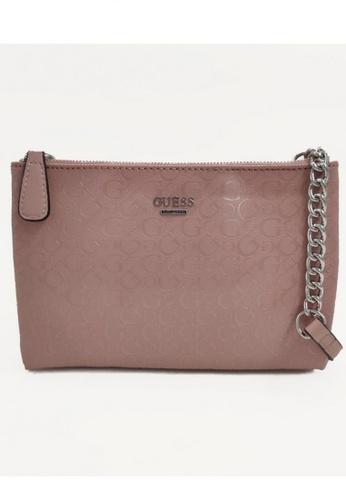 Guess pink Guess Campos Mini Double Zip Crossbody Bag EBD80AC5BEEB58GS_1