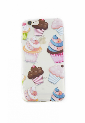 Fancy Cellphone Cases multi Cupcakes Soft Transparent Case 6/6s FA644AC52YCXPH_1