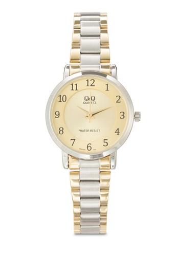 Q945J4esprit 台灣官網04Y 數字顯示雙色不銹鋼手錶, 錶類, 飾品配件