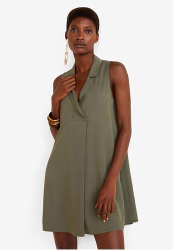 Mango green Flowy Shirt Dress FC0BCAA4274AB9GS_1