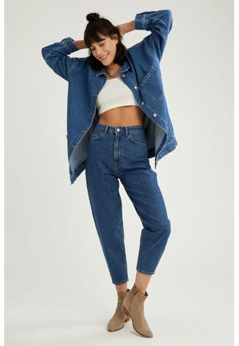 DeFacto blue High Waist Slim Slouchy Jeans FC825AA6619553GS_1