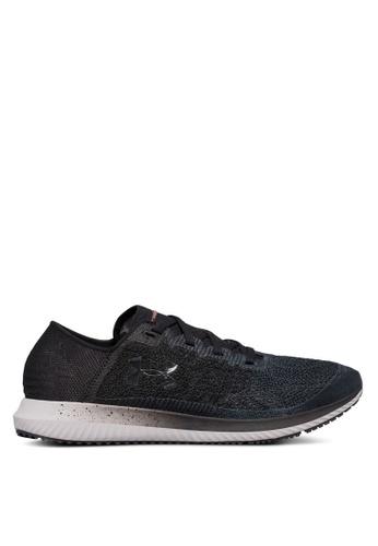 Under Armour black UA Threadborne Velociti Shoes UN337SH0SU8WMY_1