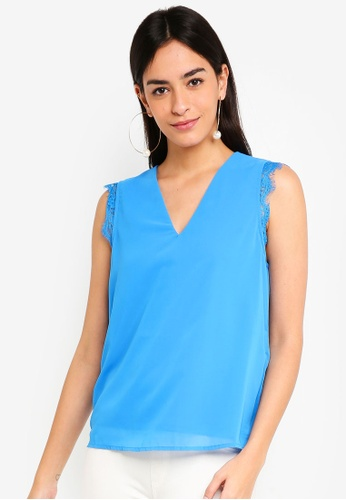Vero Moda blue Joan Sleeveless Top 8C568AA5E2979BGS_1
