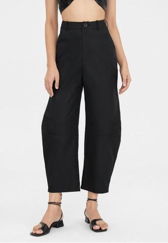 Pomelo black High Waist Slouchy Pants - Black 7A5BDAA78C3607GS_1