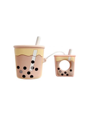 Kings Collection brown Milk Tea Keychain AirPods Case (KCAC2016) A6C2AAC04A050DGS_1