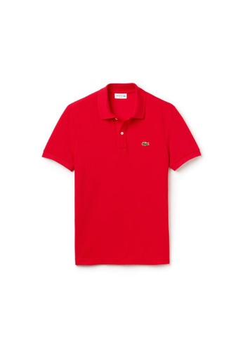 Lacoste red Lacoste Men's Slim Fit Polo Shirt in Petit Piqué 0FEF9AA96087BAGS_1