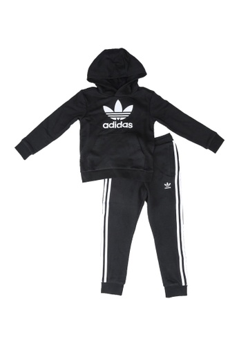 ADIDAS black trefoil hoodie set 3551CKAF73D3C0GS_1