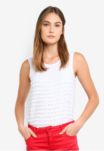 c4394d75074 Buy Armani Exchange Lasered Dots Top Online on ZALORA Singapore