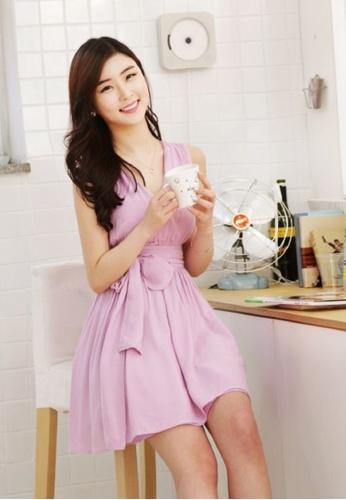 Shopsfashion purple Wrap Dress in Baby Purple SH656AA54IVXSG_1