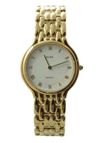 Alba gold ALBA Jam Tangan Pria - Gold White - Stainless Steel - ATAJ72 AL383AC91WTWID_1