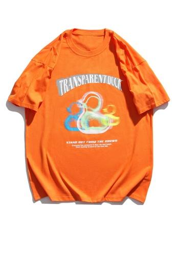 Twenty Eight Shoes Trend Reflective Printed Short T-shirt HH1035 FA03CAAA756E48GS_1