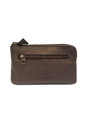 Santa Barbara Polo & Racquet brown Santa Barbara Leather Classic Key Pouch SA678AC0GNOESG_1