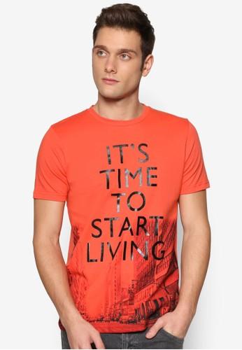 圖文設計短袖TEEesprit hk, 服飾, 印圖T恤