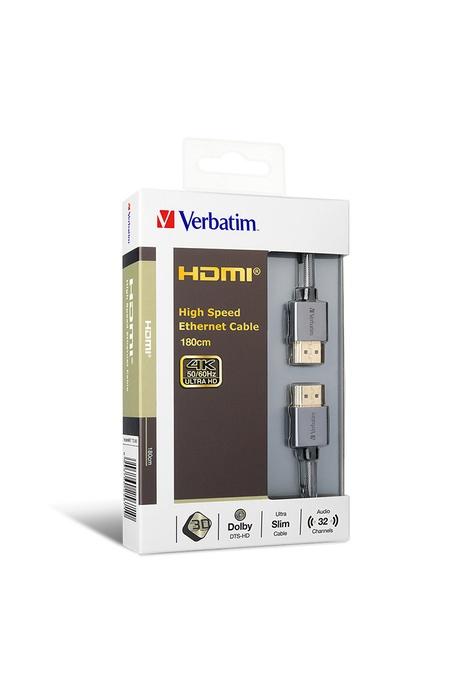 Verbatim Verbatim 180cm HDMI 2.0 4K傳輸線 - 灰色