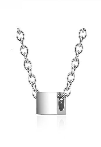 HAPPY FRIDAYS Minimalist Cube Necklace JW QF-DZ312 93644AC9462315GS_1