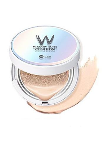 W.Lab beige W-Snow Aura Cushion #21 Aura Light WL589BE74SGFMY_1