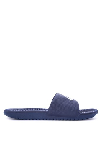 Nike navy Men's Nike Kawa Slide Sandals NI126SH0STS7MY_1