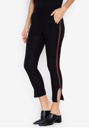 Balaynor black Skinny Track Pants with Slit 3E97AAA8CCF542GS_1