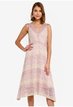740445781dc Wallis pink Blush Lace Hanky Hem Dress 41A25AA5AE7257GS 1