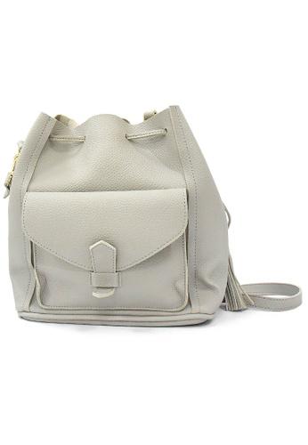 LULUGIFT Lulugift Korean Bucket Faux Leather Sling Shoulder Bag LU989AC0RANHMY_1