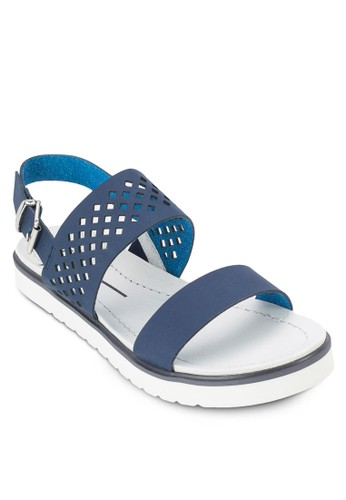 雕花繞踝涼鞋esprit台灣門市, 女鞋, 鞋