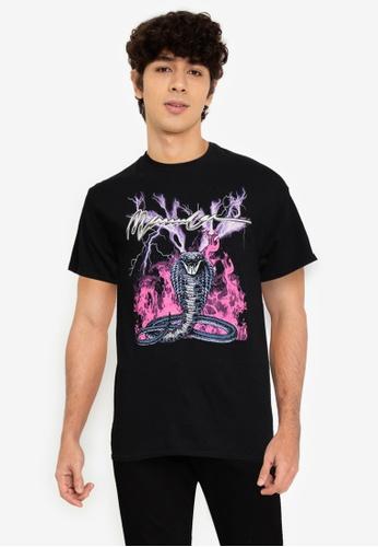 Mennace black On The Run Serpent Regular T-Shirt C6768AAF8C0D16GS_1