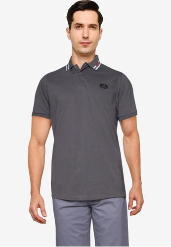 Fidelio 灰色 Lining Collar Basic POLO衫 3335EAA262B933GS_1