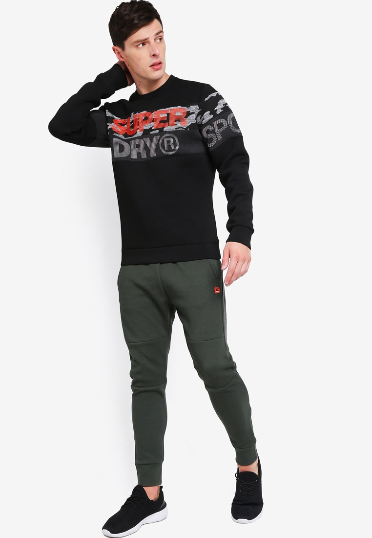 Cut Tech Superdry Camo Black Sweatshirt Crew Gym qfWwxnZ5vv