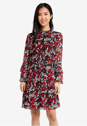 ESPRIT black Light Woven Midi Dress ES374AA0T14UMY_1