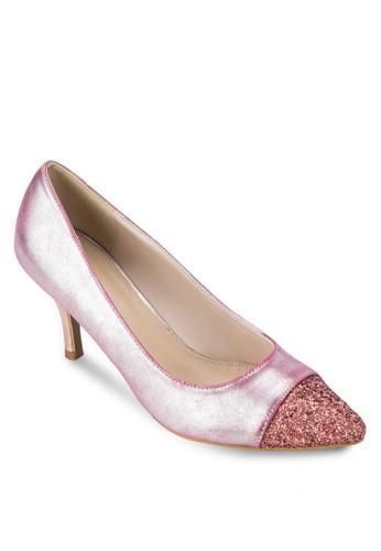 金屬感esprit 床上用品尖頭高跟鞋, 女鞋, 鞋