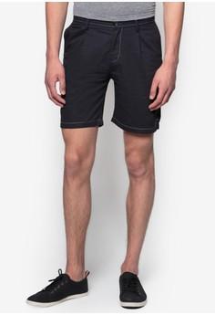 【ZALORA】 折線棉質短褲