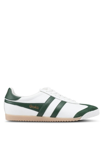 Gola white and green Harrier 50 Leather Sneakers F3E7ASH4BD513EGS_1