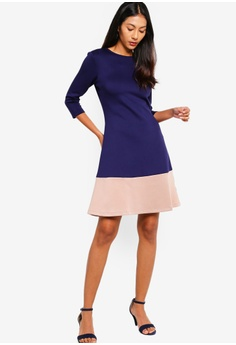 ce89b983d1 10% OFF ZALORA BASICS Basic Scuba Colourblock Hem Dress RM 95.00 NOW RM  85.90 Sizes XS S M L XL