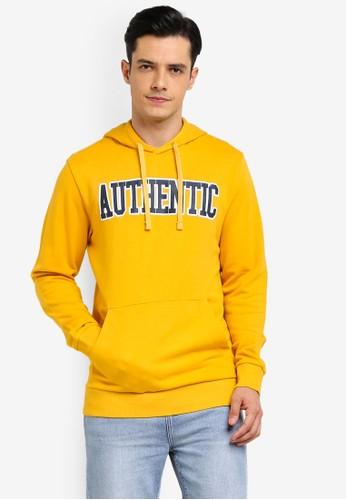 Jack & Jones yellow Simpler Sweat Hoodie 44F39AAA342DE1GS_1