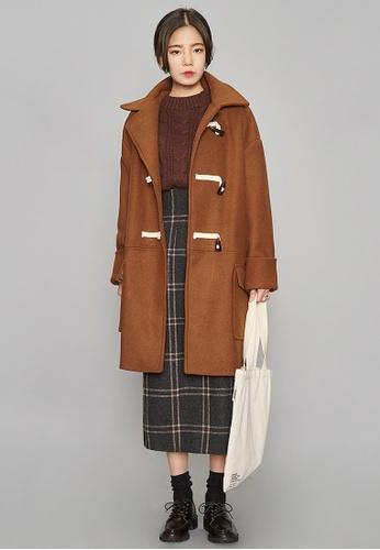 Buy AIN FRESH MORE Brown Wool Duffle Coat | ZALORA Singapore